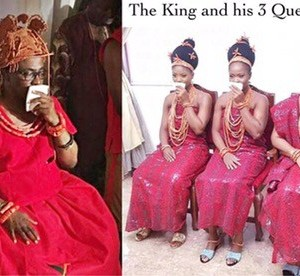 Checkout Newly Crowned Oba Of Benin's Three New Wives + Photos From The Coronation