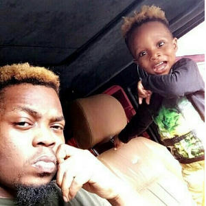 Adorable! Olamide And Son Rock Same Hairstyle
