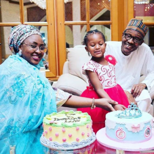 Photo: Pres. Buhari and wife, Aisha, Celebrate Their Grand-daughter's 4th Birthday