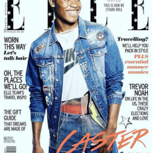 Caster Semenya on the cover of SA's ELLE magazine