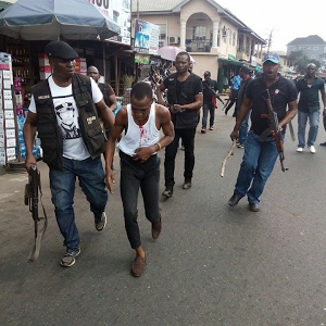Photos: Police foil attempt by 4-man robbery gang to rob bank customer in Imo State