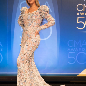 Beyonce Slays In Lovely Dress At The 50th Country Music Awards | Photos