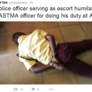 Policemen Handcuff, Brutalise LASTMA Officer In Lagos