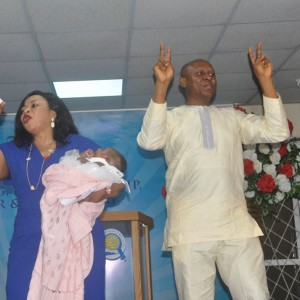 Billionaire Alakija Rejoices With Couple Who Welcomed Twins After 18 Years (Pics)