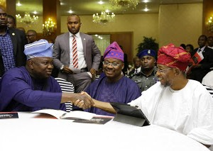 Photos: Ambode, Amosun, Ajimobi And Aregbesola At Fund Raising Ceremony