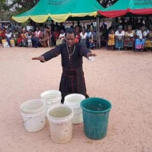 Bishop Dr Sam Zuga Allegedly Turned Cold Water Into Hot Water In Ebonyi State (Photos)