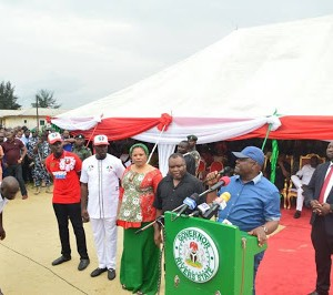 Photos: Governor Wike Receives 150 APC Decampees Into PDP In Rivers State