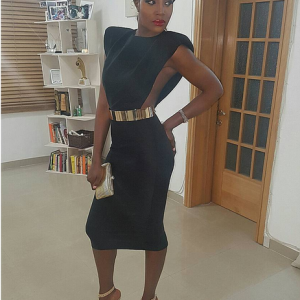 Seyi Shay Sizzles In Sexy Black Dress | Photos