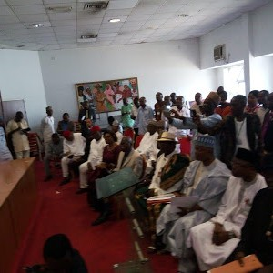 Photos: PDP Senators Stage Walkout After a Senator From Ondo State Announced His Defection to APC