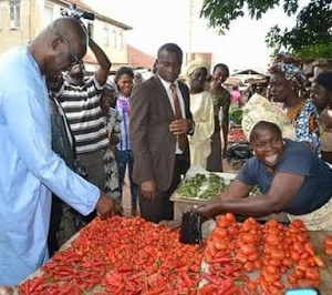 Ekiti Market Woman Leader Forces Down Prices Of Foodstuffs In The State