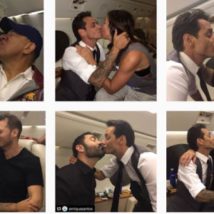 Hilarious- Marc Anthony goes on a kissing spree with men to downplay his kiss with Jennifer Lopez
