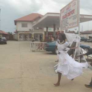 Revealed-Why this bride ran off in the middle of her wedding reception in Delta state