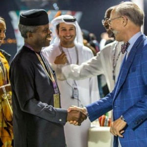 Photos: VP Osinbajo and his wife Dolapo, attend Formula one event in Abu Dhabi