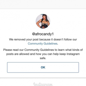 Afrocandy Rants As Instagram Takes Down Her Nude Photo