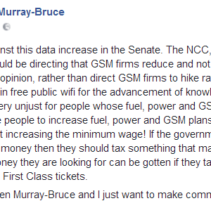 Ben Murray-Bruce, Gbenga Ashafa, singer Vector Kick Against Planned Hike In The Price Of Data Bundle