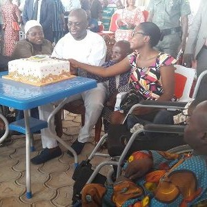 Photos: Ayo Fayose Celebrates His 56th Birthday With The Physically Challenged
