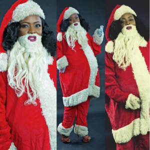 Move Over Father Christmas ! Helen Paul dresses up as Mother Christmas'