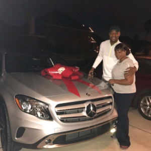 US-Based Nigerian pastor gifts his mom an SUV for Christmas (Photo)