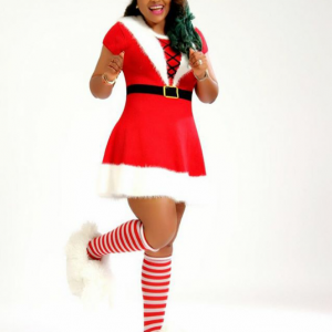 Mercy Aigbe Shares Christmas Photo