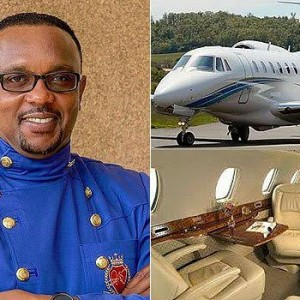 Flamboyant preacher thanks church members for his new private jet (photos)