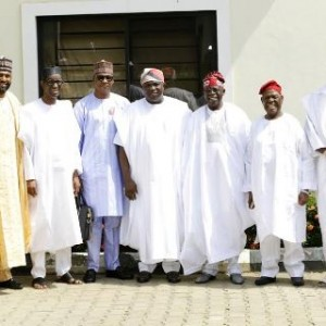 Photos: Akinwunmi Ambode, Bola Tinubu, Nuhu Ribadu, Atiku, Dangote, others at Zahra Buhari's wedding