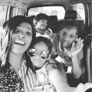Annie Idibia Shares Adorable Pic With Her Mum And Kids