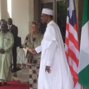 Photos: Pres. Buhari Receives Liberian President, Ellen Johnson-Sirleaf, At The State House Abuja