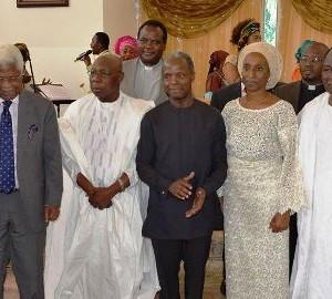 Photos: Osinbajo, Obasanjo, Shonekan, Gowon, Ekwueme, others Attend Aso Villa Chapel's End Of The Year Thanksgiving