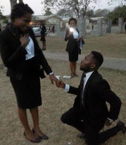 Law school undergraduate proposes to his female colleague in Abuja (photos)