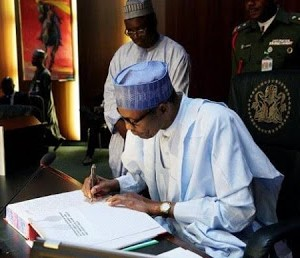 President Buhari signs eight new bills into law