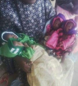 Photos: Woman gives birth to quadruplets in Sokoto