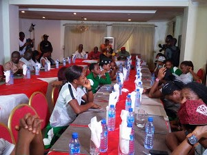 Photos: Super Falcons Hosted In Lagos On Their Arrival From Cameroon
