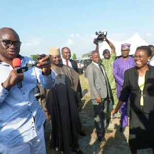 Photos: Fayose Presents Brand New Car To The Best Civil Servant In Ekiti state