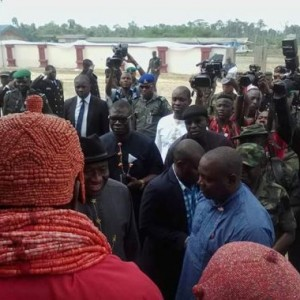 Photos: Goodluck Jonathan in Delta state for the coronation of new Gbaramatu king