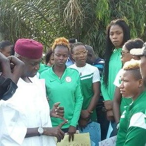 #PayFalcons FG promises to pay the protesting Super Falcons players in two days