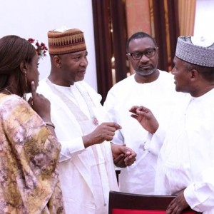 Otedola, Dangote Pictured At King Of Morocco Banquet At Aso Villa