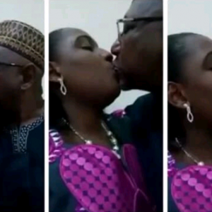 Real story behind viral video of an alleged senator kissing a woman (Photos)