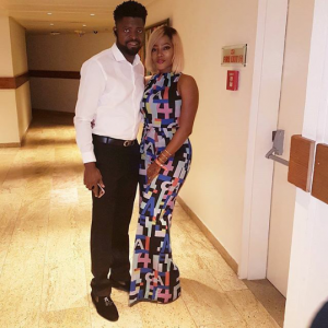 Basketmouth and wife, Elsie step out in style