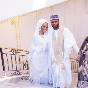 Emir Of Kano's Daughter And Her Hubby At Their Wedding Ceremony Yesterday | Photos