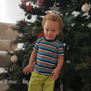Daddy Freeze shows off his adorable son