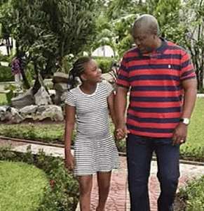 Pres. Mahama's daughter writes him emotional message after he lost Ghana election