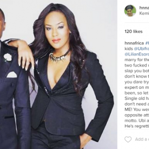 Kemi Olunloyo Addresses Ubi  Franklin and Lilian Esoro
