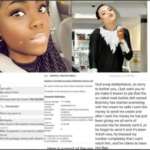 Lady Claims Bobrisky Scammed Her After He Failed To Deliver Bleaching Cream She Ordered