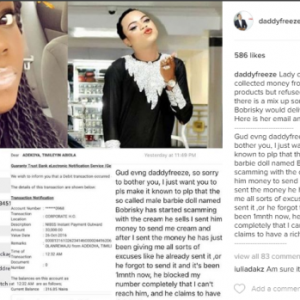 Bobrisky Responds To The Allegations Of Fraud Levelled Against Him, Accuser Replies