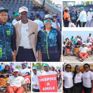 Photos of Tonto Dikeh And Her Hubby At His Charity Event