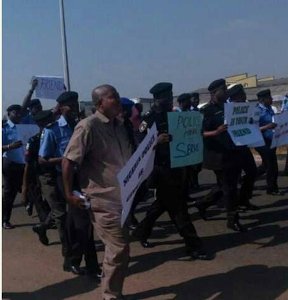 Photos: Police Officers in Kwara State Campaign Against Bribery And Corruption