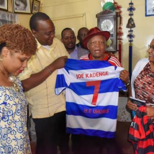 President Uhuru finally meets ailing soccer star, Joe Kadenge, to fulfill his dying wish (photos)