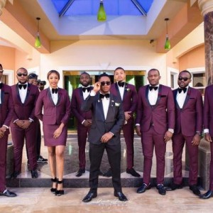 Photos: Pretty lady part of groomsmen at Nigerian wedding