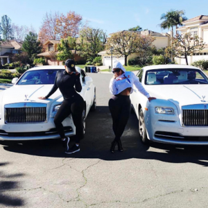 Amber Rose and Blac Chyna show off their matching Rolls Royce