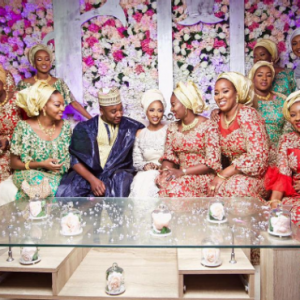 New photos of President Buhari's daughter, Zahra, as she strikes a pose with her inlaws